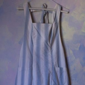 Cooperative Striped baby blue mini dress